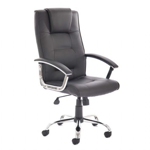 Elvedon Leather Heavy Duty Office Chair 23.5 Stone